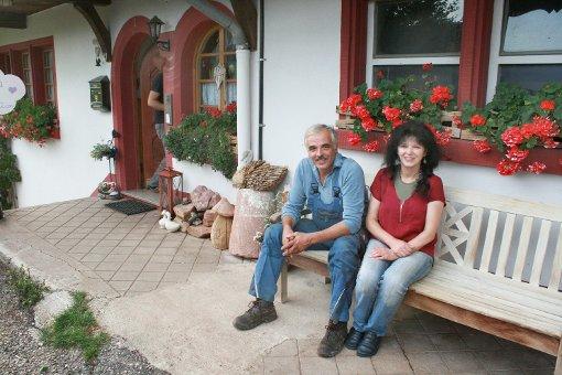 Felix und Agnes Löffler sind auf dem Fallerhof glücklich. Foto: Schück
