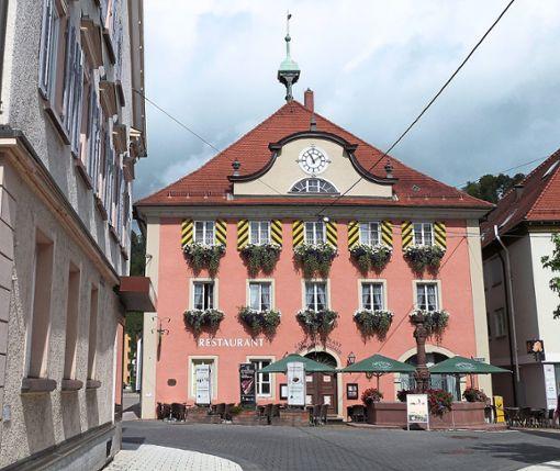 Sabine Jaud wohnt in Hochmössingen und genießt die Natur rund um den Ort. Aber auch die  Außenbereiche in der Oberstadt – wie hier das Alten Rathaus – haben es ihr angetan.   Foto: Danner Foto: Schwarzwälder Bote