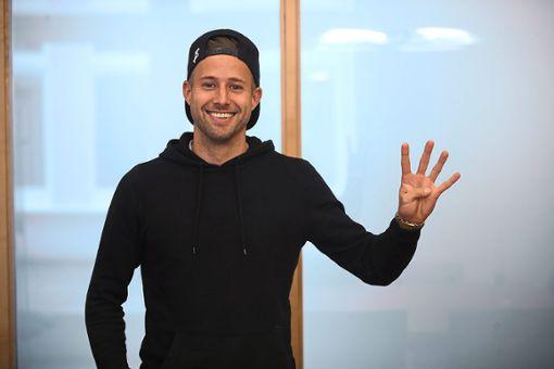 Zeigt es mit den Fingern an: Benedikt Haibt bestreitet am Samstag sein viertes SBFV-Pokal-Finale.    Foto: Marc Eich
