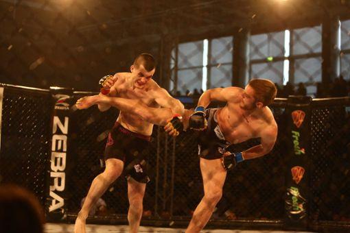 Eine umstrittene Sportart: MMA in Balingen.  Foto: Maier