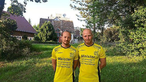 Freuen sich auf das Abenteuer Landesliga: Roman (links) und Rene Riegger. Foto: Köhler