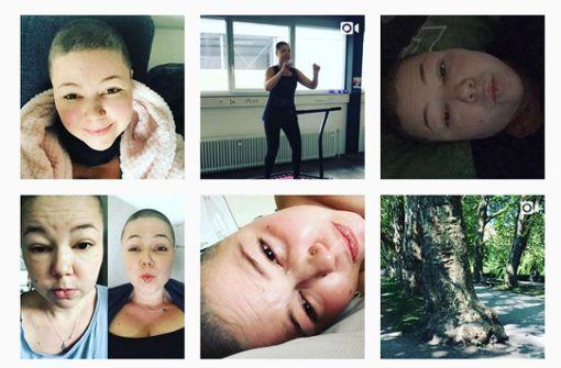 Auf ihrem letzten Instagram-Post ist Angela Wehrmann lächelnd zu sehen. Foto: Screenshot Instagram