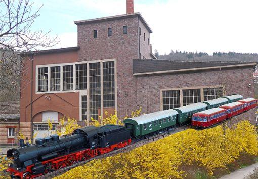 Die Modellbahnanlage ist am Samstag, 22. Juni, in der  Deckenfabrik zu sehen.   Foto: Schneider Foto: Schwarzwälder Bote