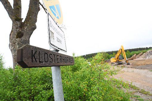 Auf dem Klosterhof soll am November die neue Boulder- und Kletterhalle entstehen.  Foto: Eich Foto: Schwarzwälder-Bote