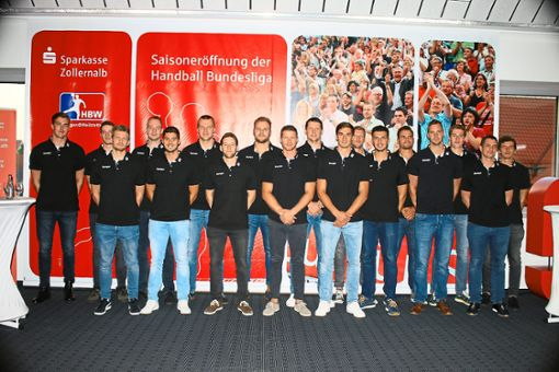 Mit diesem Team will der HBW Balingen-Weilstetten in der 2. Liga vorne mitmischen.   Foto: Kara