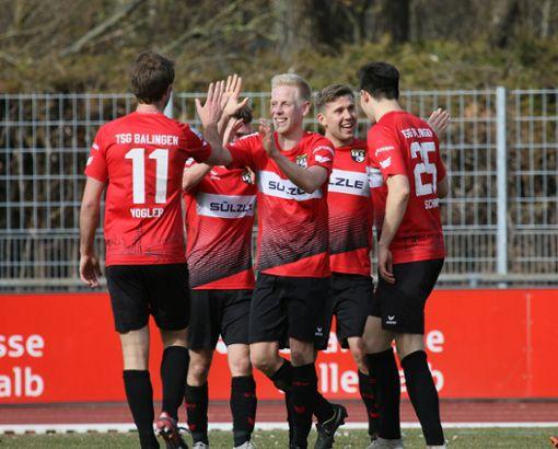 Die Stimmung bei der TSG Balingen ist gut vor dem Rekordspiel gegen den SV Waldhof Mannheim.  Foto: Kara