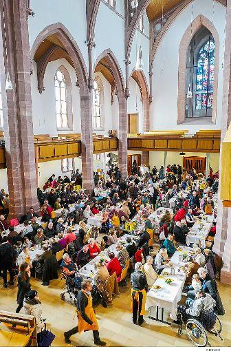 In der Stadtkirche ist ab 22. Januar wieder die Vesperkirche zu Gast. Foto: Fritsch