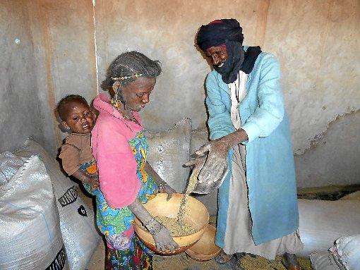 In den Kornspeichern lagert der Getreidevorrat für die Dorfbewohner. Foto: Verein