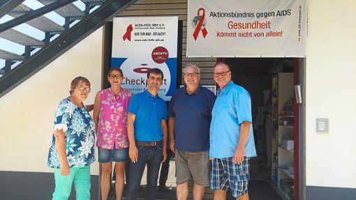 Beim Brunch tauschte sich OB-Kandidat Jörg Röber mit   Mitgliedern der  Aidshilfe  Schwarzwald-Baar-Heuberg über die über die  Arbeit des Vereins aus.   Foto: Röber Foto: Schwarzwälder Bote