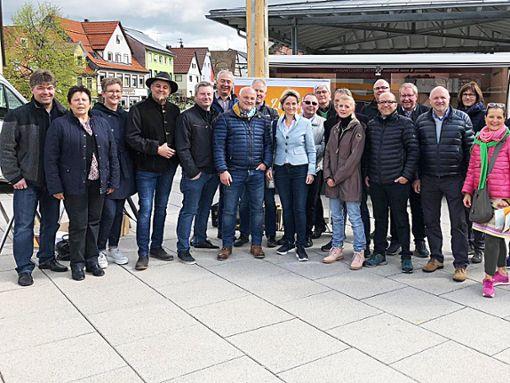 Erschwingliche Bauplätze: Die CDU-Kandidaten informierten über ihre Ziele.  Foto: Maier Foto: Schwarzwälder Bote