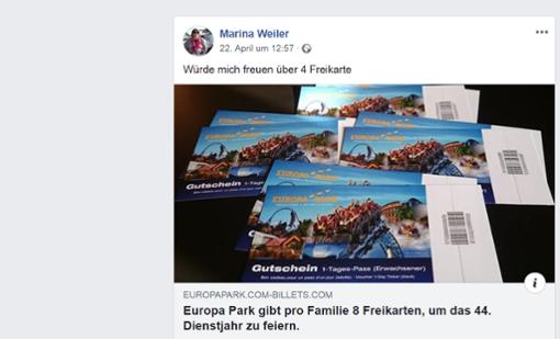 Bei diesem Post handelt es sich um einen Fake. Foto: Screenshot Facebook