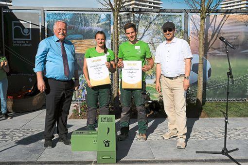 Sie freuen sich über die erfolgreiche Teilnahme (von links):  Joachim Hauck, Mareike Müller, Wolfgang Hummel und Albrecht Bühler.  Foto: VGL BW Foto: Schwarzwälder Bote