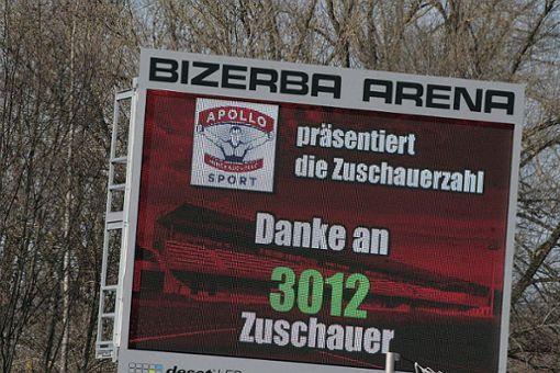 3012 Zuschauer gegen den SV Waldhof Mannheim waren Zuschauerrekord in der Balinger Bizerba-Arena.  Foto: Bartler-Team