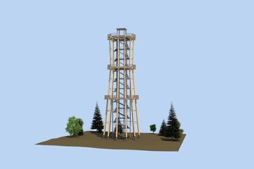 So soll der Turm, um den es derzeit Diskussionen gibt, später mal aussehen.  Foto: Archiv