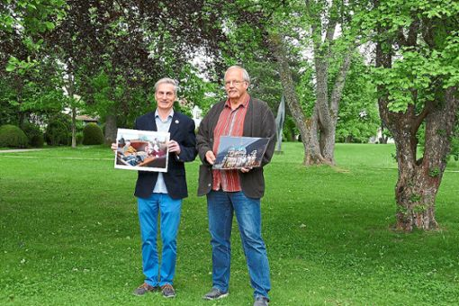 Olaf Späth (links) und Rolf Noergaard freuen sich auf den Schömberger Fotoherbst.  Foto: Ketterle Foto: Schwarzwälder Bote