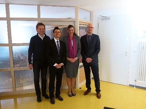 Ralf Eggert (von links), Sven Cravotta, Katja Rade und Thomas Müller freuen sich, dass die Pläne nun anlaufen.  Foto: Mehne Foto: Schwarzwälder-Bote