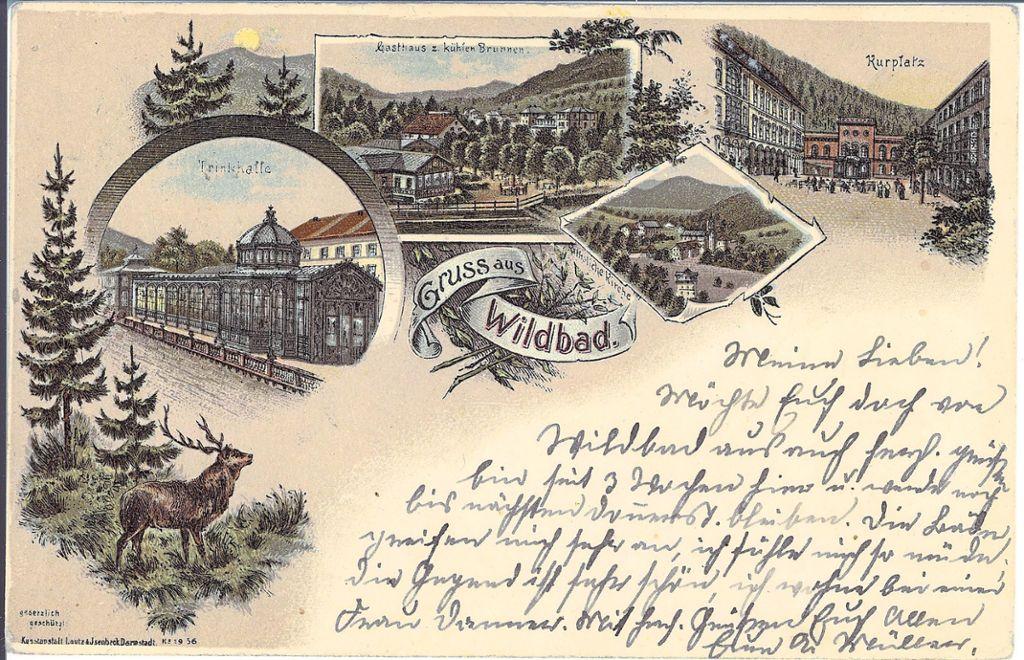 Bad Wildbad: Grußkarte erzählt aus alten Zeiten - Bad Wildbad ...