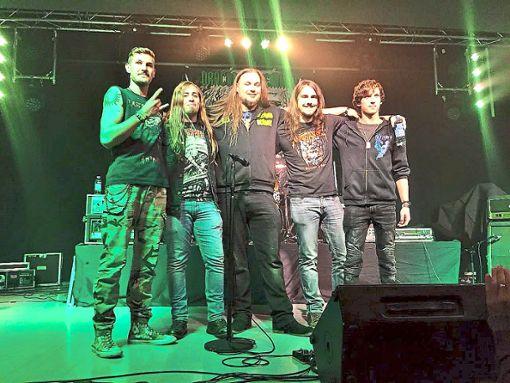 Draconian Remains halten beim Konzert am 17. November die Fahne der Balinger Metal-Szene hoch.  Foto: Band Foto: Schwarzwälder Bote