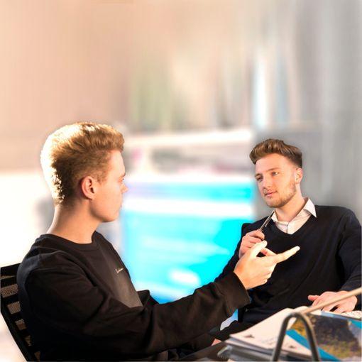 Marwin Gfrörer (links) und Jan Kleinmann wollen durchstarten. Foto: Privat