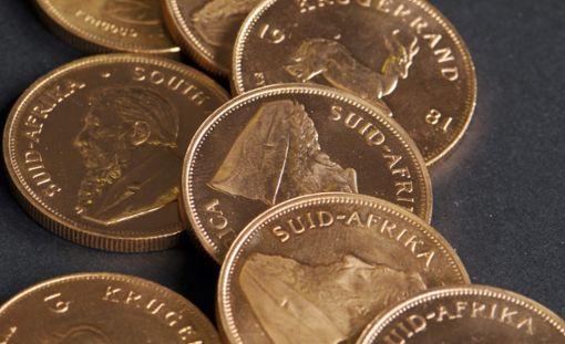 Krügerrand – beliebte Goldmünzen, von denen Michael Riecher viele besaß. (Symbolbild) Foto: Weigel