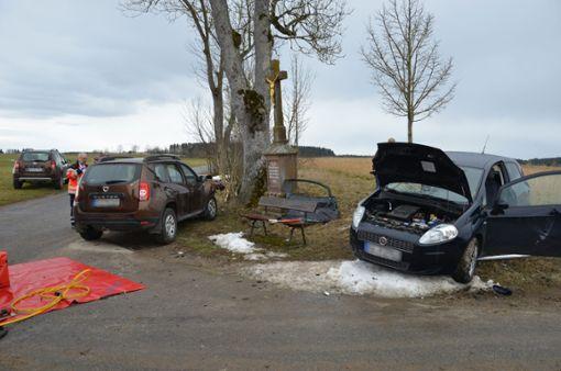 Bei einem Unfall zwischen Fluorn und Winzeln ist eine Beifahrerin schwer verletzt worden.  Foto: Wagner