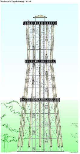 Der geplante Turmbau in Schömberg ist sehr umstritten.  Foto: Ingenieurbüro Braun Foto: Schwarzwälder Bote
