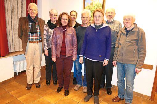 Bestätigter Vorstand: Lutz Diedrichs (von links), Ingrid Bräutigam, Sigrid Fridrich, Gabriele Kinle, Stefan Willeitner, Anke Brügmann, Gerd Brügmann und Jörg Wulle  Foto: Bea Foto: Schwarzwälder Bote