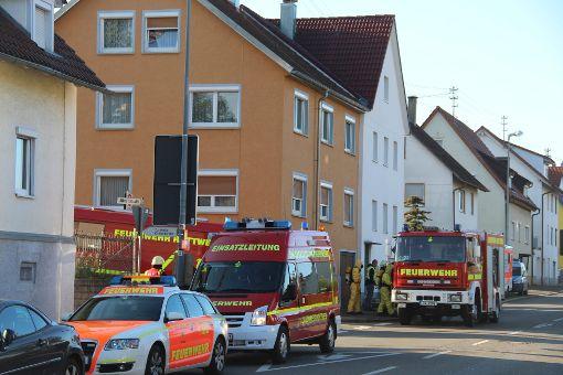 Großaufgebot in der Römerstraße am Mittwochmorgen.  Foto: Schmidt