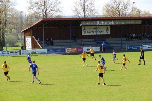 Punkteteilung im Spitzenspiel der Bezirksliga. Foto: Lisa Pfister