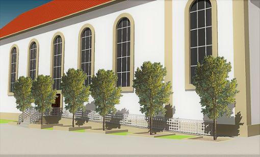 Entlang der Ostseite der Stadtkirche wird ebenfalls eine Rampe erstellt. Foto: Schwarzwälder Bote