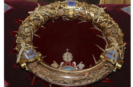 La Sainte Couronne – die heilige Dornenkrone – ist gemäß der christlichen Tradition die aus Dornen geflochtenen Krone, die Jesus bei der Kreuzigung in Jerusalem von römischen Soldaten auf den Kopf gesetzt wurde. Foto: