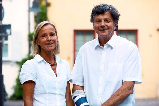 Ursula Hochrein und Johann Senner stellten die Gartenschau-Planungen am Mittwoch vor.   Foto: Maier Foto: Schwarzwälder Bote