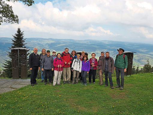 Die Gruppe aus Lauterbach auf dem Hörnleberg, im Hintergrund   das Elztal.   Foto: Schwarzwaldverein Foto: Schwarzwälder Bote