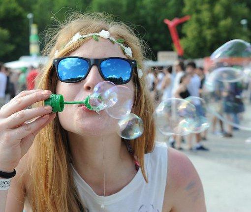 Das Mini-Rock-Festival kann starten: Am Donnerstag ist der Campingplatz eröffnet worden. Foto: Maria Hopp
