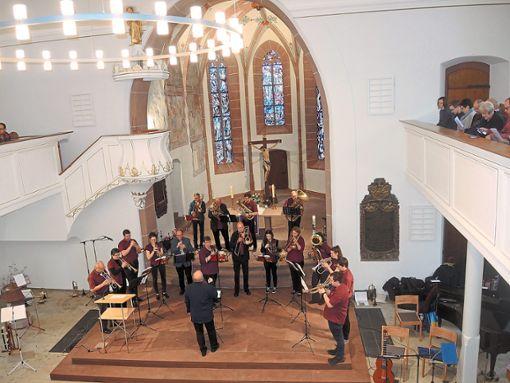 Der Posaunenchor unter der Leitung von Eric Küffer umrahmte den Gottesdienst musikalisch. Foto: Schwarzwälder Bote