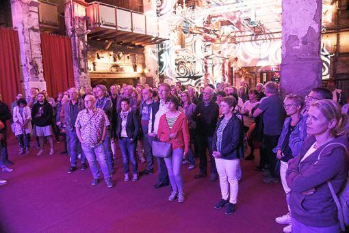 In mehreren Gruppen tauchen gestern die Besucher in die Geschichte des Kraftwerks im Neckartal ein. Foto: Schwarzwälder Bote