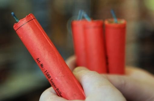 Gefährliches Feuerwerk. Foto: dpa