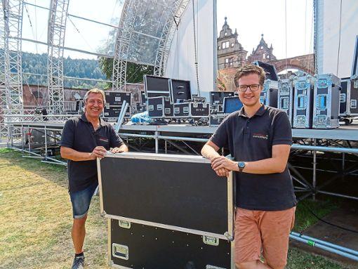 Jürgen Ott (links) und Dominik Schirle sind mit dem Verlauf des Klostersommers 2018 hochzufrieden.  Foto: Verstl