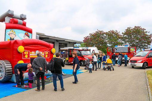 Bei der Feuerwehr gab es viel für Kinder und Erwachsene zu entdecken.  Foto: Geisel Foto: Schwarzwälder Bote