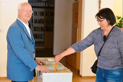 Ein Beitrag zu einer guten Wahlbeteiligung in Villingendorf.   Foto: Cools Foto: Schwarzwälder Bote