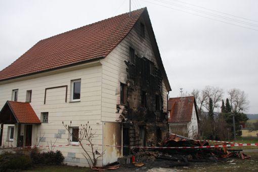 Im alten Owinger Pfarrhaus ist in der Nacht ein Feuer ausgebrochen. Foto: Kost