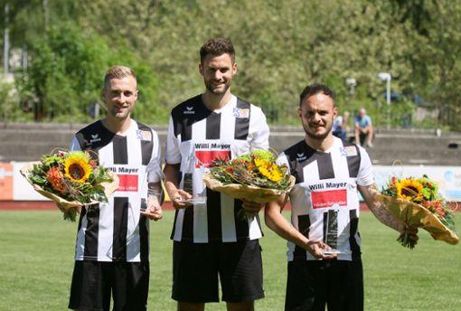 Das Trio um Philipp Rumpel (links), Marc Bitzer (Mitte) und Pietro Fiorenza wird dem FC 07 Albstadt fehlen. Foto: Kara