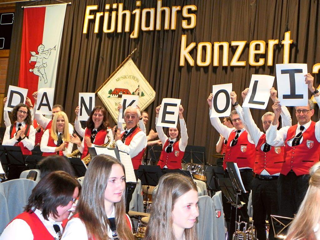 Danke, mehr kann man nicht sagen: Der Musikverein Weildorf nutzte ...