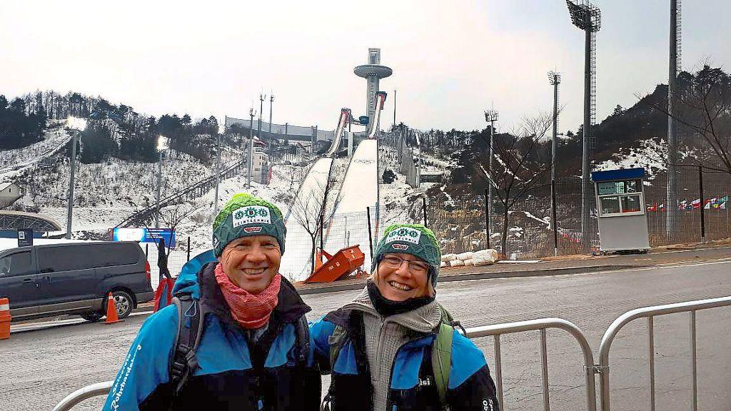Bei Den Olympischen Winterspielen In Pyeongchang Mit Vor Ort Sind