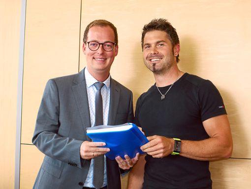 Frank Schroft (links) und Manuel Schempp  Foto: Eyrich Foto: Schwarzwälder Bote