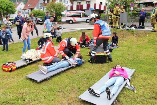 Das Rote Kreuz betreute die verletzten Kinder. Foto: Schwarzwälder Bote