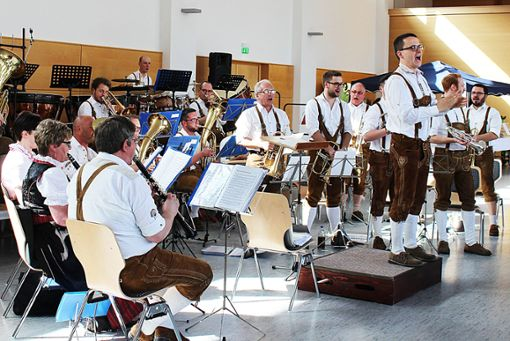 Einfach zum Träumen: die Vorträge des Großen Blasorchesters.    Foto: Bender Foto: Schwarzwälder Bote