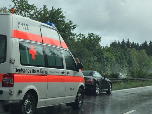 Kurz nach der Wessinger Senke kam der Mann mit seinem Mercedes auf der ansteigenden Geraden nach links von der Straße ab. Foto: (nil)