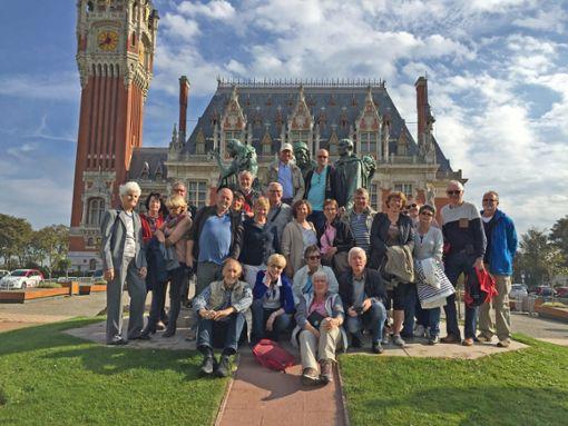 Mitglieder des Partnerschaftsvereins Oberes Schlichemtal/Val d'Oison sind gemeinsam am Meer bei Calais gewandert  Foto: Verein Foto: Schwarzwälder Bote