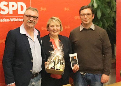 Georg Sattler, Katja Mast und  Torsten Stumpf  hoffen auf einen  erfolgreichen Schulz-Effekt.   Foto: SPD Foto: Schwarzwälder-Bote